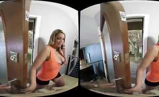 Brooklyn Chase My Girlfriend's Busty Friend: Caught Staring for Naughty America VR