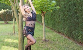 Demure Stockings Tease Featuring Kate Jones