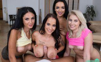 Twister Fivesome: Part 1 Featuring Jennifer Mendez, Lilly Bella, Mia Tracy, Zuzu Sweet