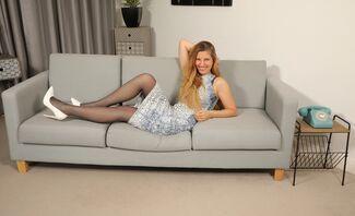Blonde British Hottie Strips Featuring Stephanie Bonham Carter