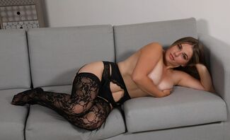 Curvy, Busty Babe Lingerie Striptease Featuring Siobhan Graves