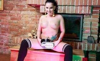 Lucia Denvile Is In High Socks Today