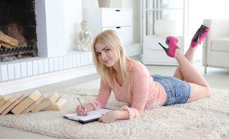Masha Studying Her Biology - Masha
