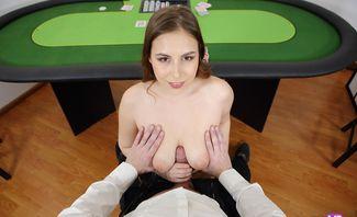 Hardcore Fuck with a Hot Poker Dealer - Antonia Sainz