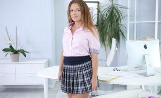 Blonde Student Reveals Hidden Desires - Mia