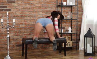 Cowboy Hat Over Wet Pussy - Nicolette Noir