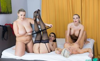 Heaven is Big Tits - Blanche Bradburry, Krystal Swift, Chloe Lamour, Florane Russell