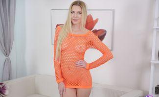 Fishnet Looks Good On Blonde