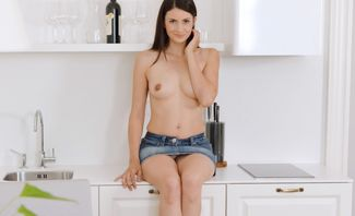 Solo Orgasm On A Kitchen Chair