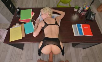 Skye Blue Blowjobs For A Job Promotion Naughty Office