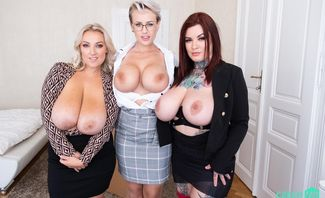 Six Melons to Fondle Starring Angel Wicky, Crystal Swift And Sabien DeMonia