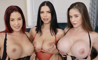 Welcome To Big Boobs Paradise With Britney West,Cathy Heaven & Kira Queen