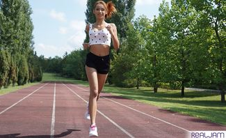 Jogging With Veronica Leal
