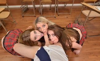 Harmony Rivers,Laney Grey And Selina Bentz Hooking Up With The Professor