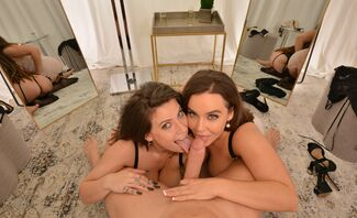 Indica Flower and Natasha Nice get spoiled in the Dressing Room