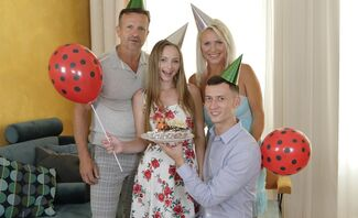 Birthday Is A Family Celebration Starring Kathy Anderson And Lady Bug