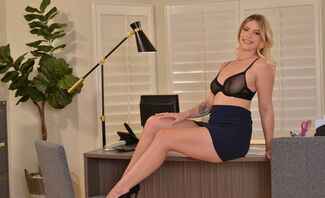 Leah Lee needs a good spank for going through your files at work